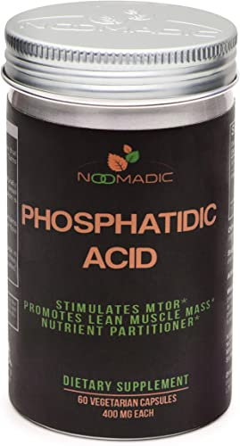 Phosphatidic Acid PA , 60 Capsules 400mg Each, Natural Anabolic, Lean Mass Gainer, Muscle Builder, Protein Synthesis Booster, mTOR Activity, Standardized to 20 Phosphatidic Acid.