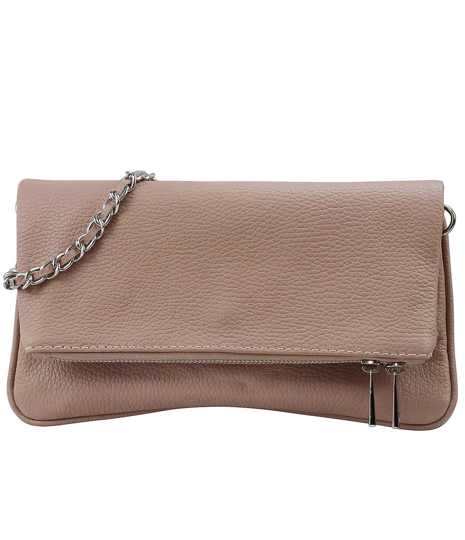 SH läder äkta läder axelväska clutch liten väska aftonväska 26 x 14 cm Mia G389 naken