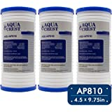 AQUACREST AP810 Replacement for 3M Aqua-Pure AP810, AP801, Whirlpool WHKF-GD25BB, 5 Micron Whole House Water Filter (Package May Vary)(Pack of 3)