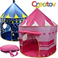 Kids Tent Toy Princess Playhouse - Toddler Play House Pink Castle for Kid Children Girls Boys Baby Indoor & Outdoor Toys Foldable Playhouses Tents with Carry Case Great Birthday Gift Idea by Creatov