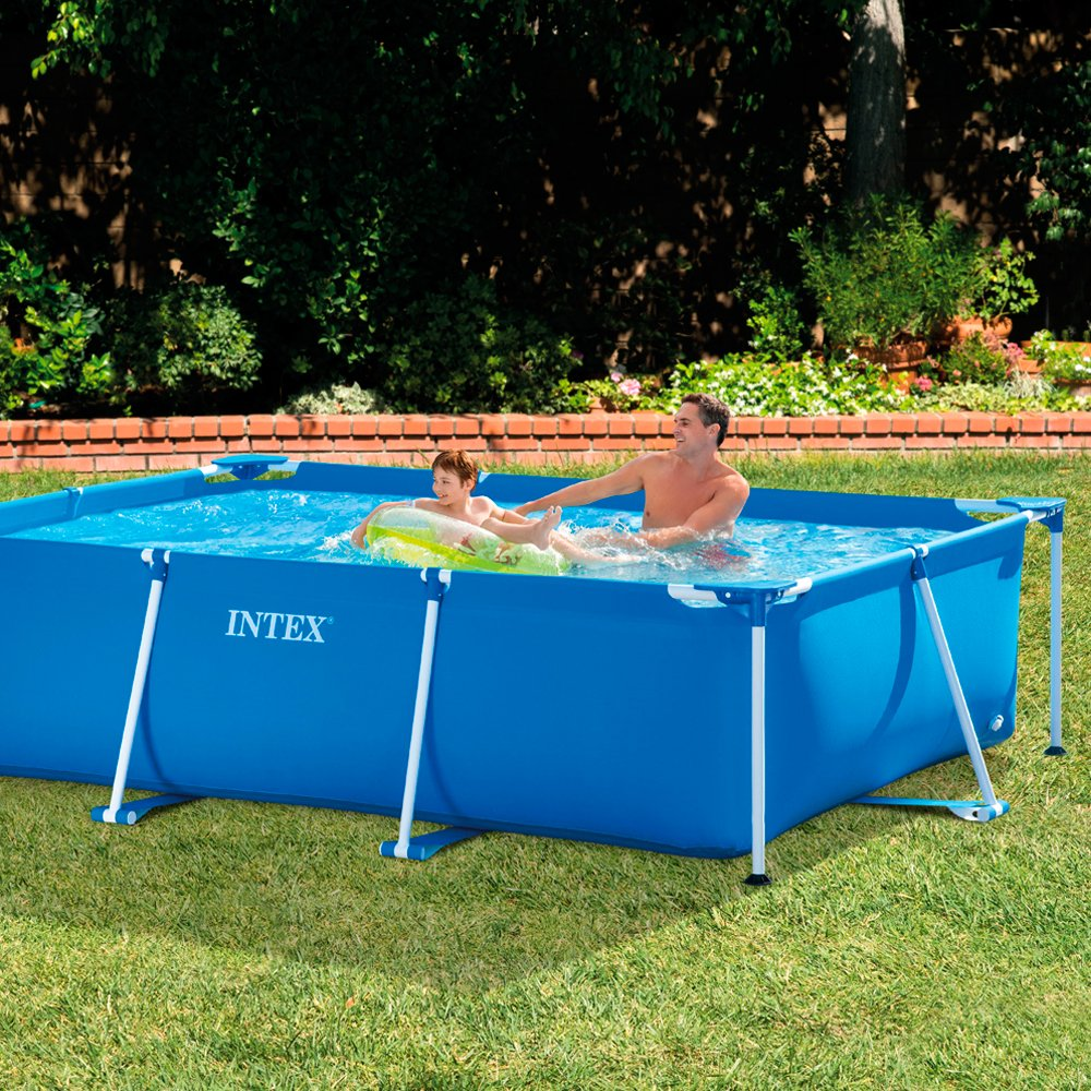 amazoncom intex 118 by 78 by 29 12 inch rectangular frame pool framed swimming pools patio lawn garden