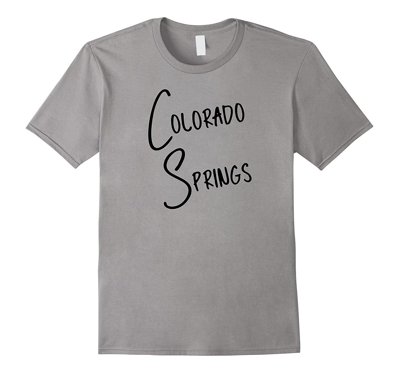Colorado Springs Colorado USA American City T-Shirt Black-CD