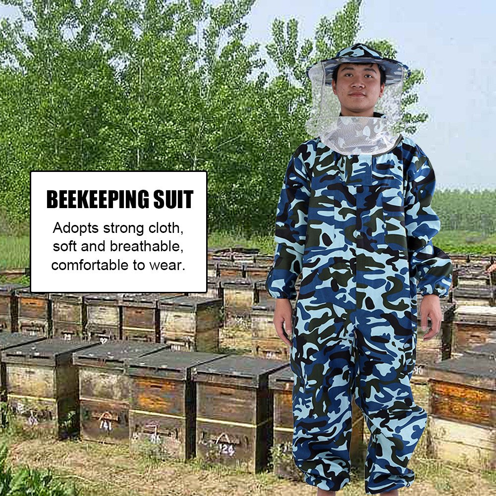 GLOGLOW Beekeeper Suit Camouflage Protective Equipment Full Body Protection for Professional & Beginner Beekeepers (XXL) by GLOGLOW (Image #2)