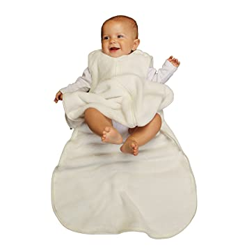 new styles f86f8 b47da Gunapod Unisex Sleep Sack Fleece Wearable Blanket Baby Sleeping Bag, Milk  White