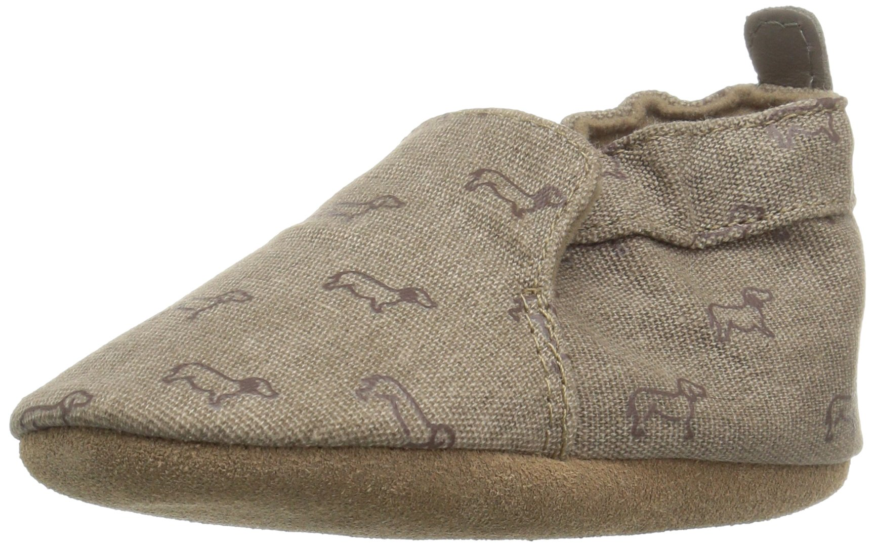 Robeez Boys' Soft Soles, Puppy Love Brown, 2-3 Yrs M US Infant