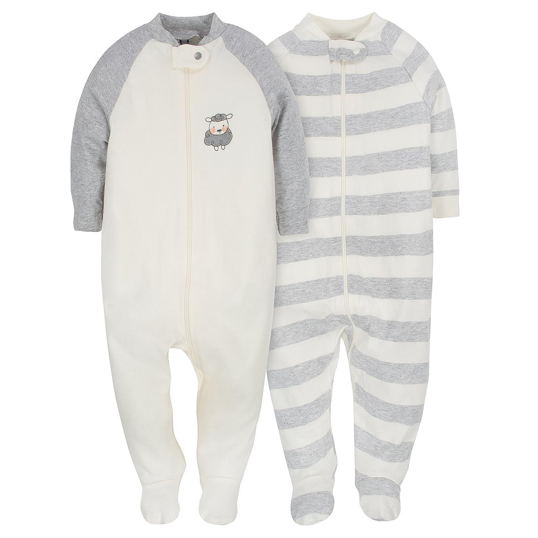 Gerber Baby Infant 2 Pack Organic Zip Front Sleep 'N Play