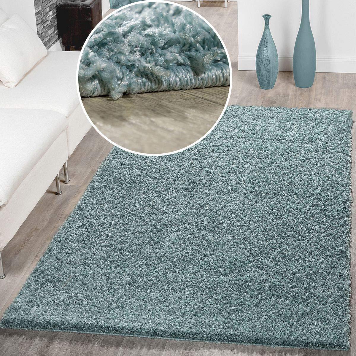 T&T Design Moderner Hochflor Teppich Shaggy Einfarbig Dicht Dicht Dicht Gewebt Qualität Pastell Türkis, Größe 200x280 cm B01MUE04PZ Teppiche 951f9b