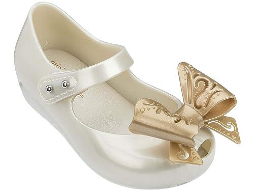 04a82ea267bf Melissa Mini Infants Ultragirl Fairy Bow Plastic Flat Pearl  Amazon ...