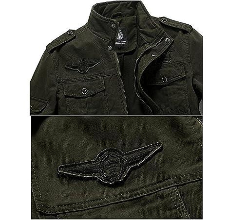 Amazon.com: Hombres Estilo Militar de LA Fuerza Aérea Militar Chamarra Coat Tops Bomber Chaquetas: Clothing