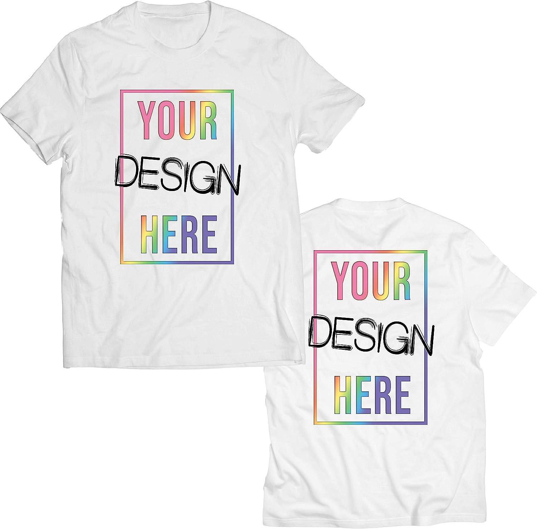 lepni.me Camisetas Hombre Impresión Personalizada de 2 Caras en el Frente y en la Parte Posterior, Texto Personalizado o Diseño de su Propia Imagen