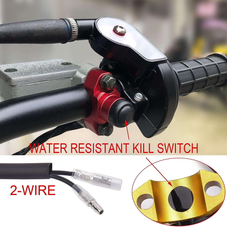 CNC Motorcycle Engine Stop Start Kill Switch Button Dirt Pit Bike ATV Quad Gokart ORANGE Water-resistant