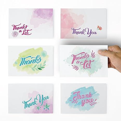 Amazon.com: Colores de Agua Tarjeta de agradecimiento ...