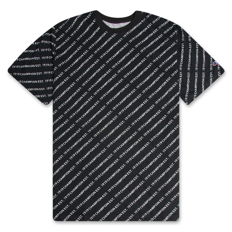 Champion Mens Big and Tall All Over Print Logo T Shirt