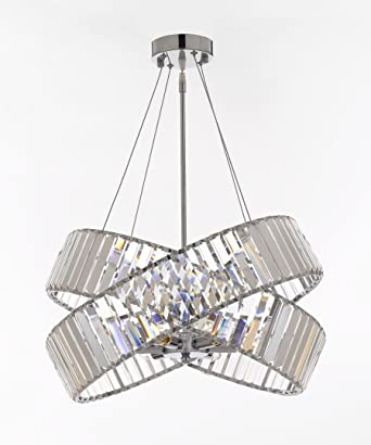 Crystal ribbon chandelier chandeliers modern contemporary lighting crystal ribbon chandelier chandeliers modern contemporary lighting pendant 20 wide good for dining aloadofball Image collections