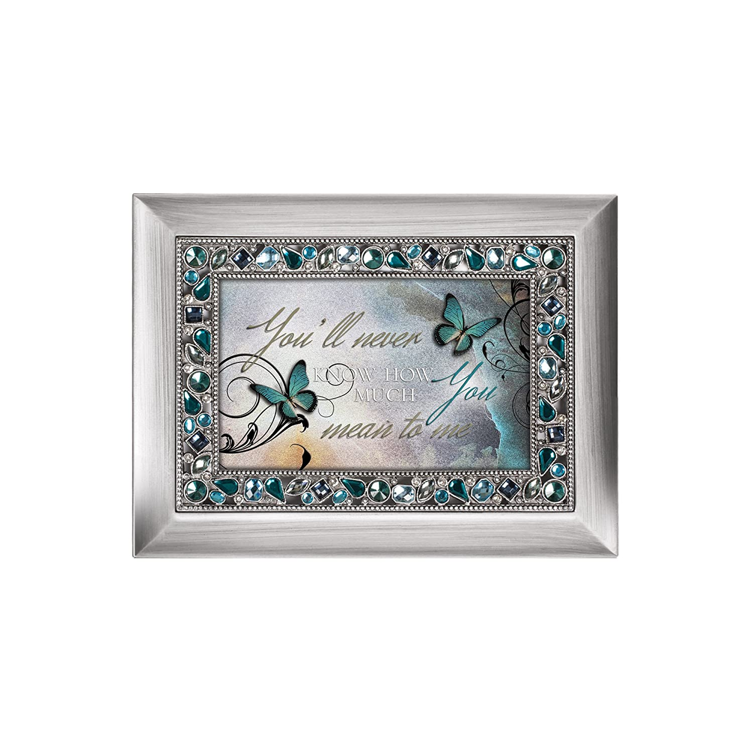 Plays What a Wonderful World JM104C Cottage Garden Youll Never Know How Much You Mean to Me Musical Music Jewelry Box