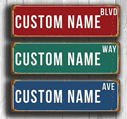 Personalized Street Signs >> Amazon Com Custom Boulevard Sign Personalized Street Sign Custom