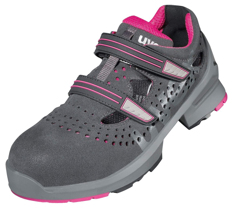 Grau-Pink Uvex 1 Ladies Frauen-Arbeitssandale Damen-Sicherheitssandale Gr 41