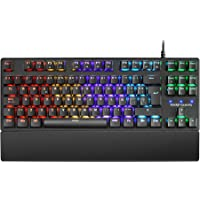 Mars Gaming MKXTKL, teclado mecánico switch azul, LED 5 colores 10 efectos, ES