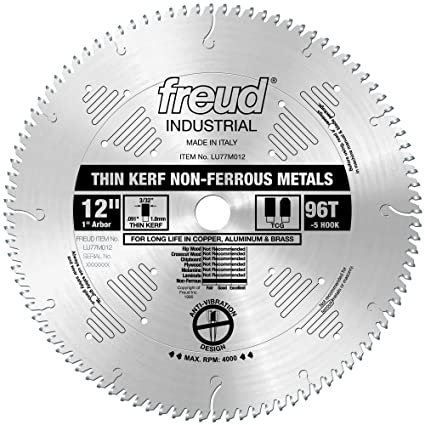 Freud 12 x 96t thin kerf non ferrous metal blade lu77m012 miter freud 12quot x 96t thin kerf non ferrous metal blade lu77m012 keyboard keysfo Image collections