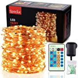 Speclux Fairy Lights LED String Lights 99 ft 300 LEDs Copper Wire Lights Waterproof, Dimmable with Remote Control, Decorative Twinkle Starry Lights for Indoor Outdoor Garden Patio Wedding Christmas