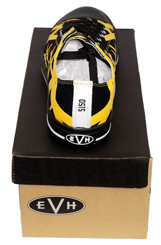 328a1c6ca102bf Amazon.com  Van Halen EVH Black Striped Yellow Low Top Sneaker Shoes   Clothing