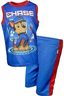Paw Patrol Little Boys Squad Leaders Short Sleeve 2 PC Pajama Set