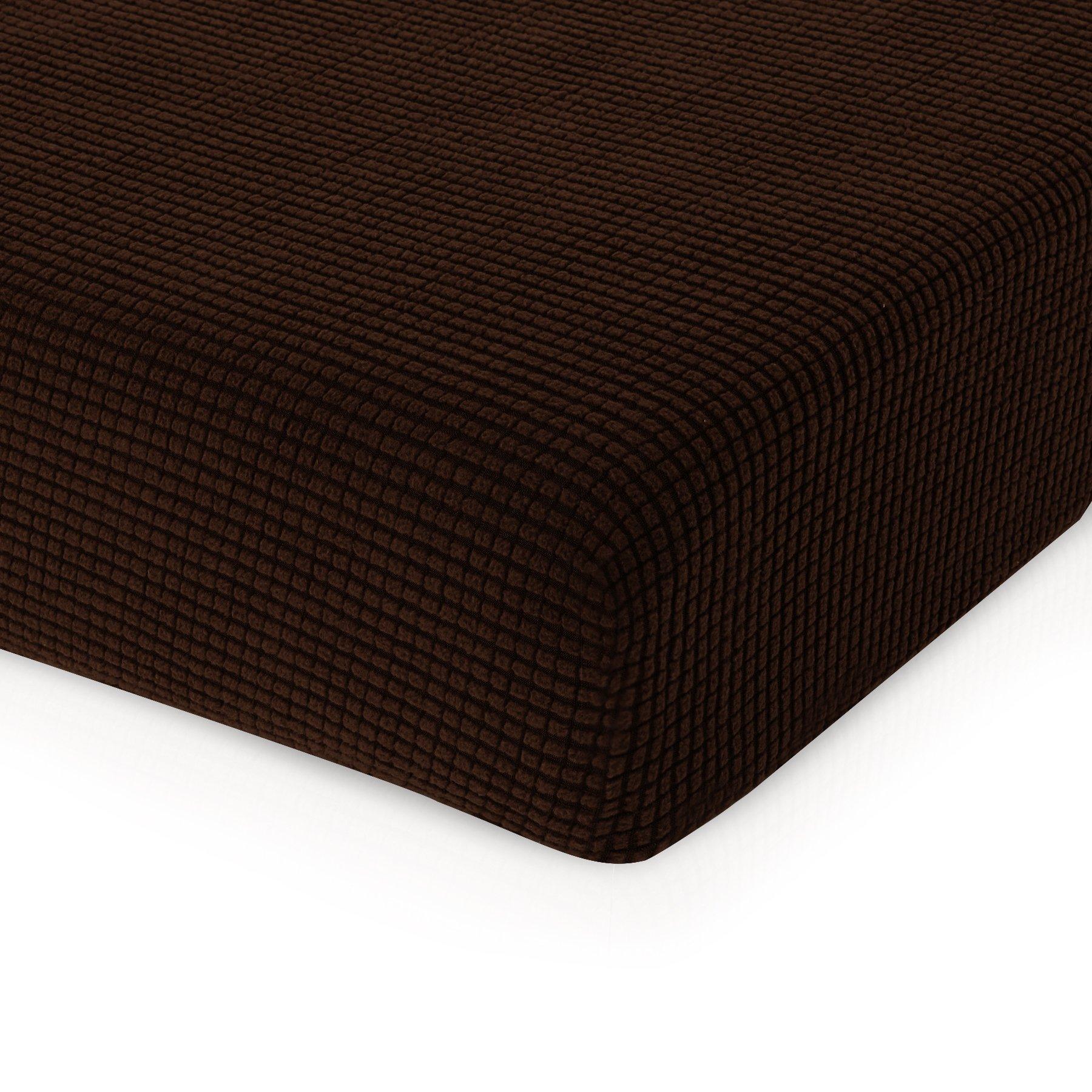 CHUN YI Jacquard Polyester Spandex Slipcover (Sofa Cushion, Chocolate)