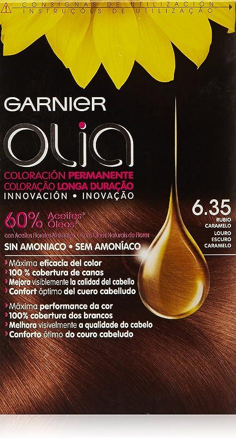 Garnier Olia Coloración Permanente sin Amoniaco, Tono: nº6.35 ...