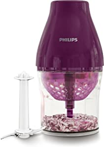Philips Kitchen HR2505/72 MultiChopper with Chop Drop Technology, Purple