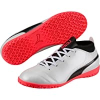 PUMA Boys One 17.4 It Jr Wht-Blk-Fi, White, Football Boots