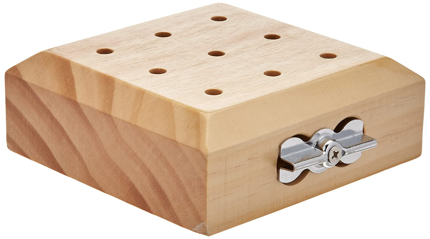Jamar 9-Hole Wooden Pegboard, Peg Test and Pegs to Improve Fine Motor Coordination & Finger Dexterity, Hand exercise Test for Rehabilitation & Occupational Therapy to Improve Motor Skills