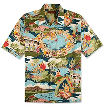 Official Website amazing selection best place for Tori Richard Boat Day Aloha Hawaiian Shirt Big and Tall - Made in USA