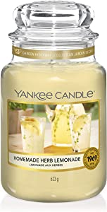 Yankee Candle Classic Large Jar, Homemade Herb Lemonade, Candle