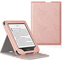 MoKo Kindle Paperwhite E-Reader Funda, Prima Voltear verticalmente Cubierta Smart Cover Case para KAmazon Kindle Paperwhite (10th Generación, 2018 Release) - Oro Rosa