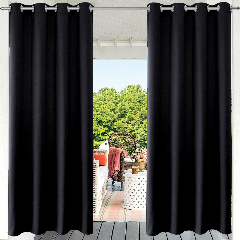 Amazon Com Pravive Blackout Outdoor Curtain Drapes Indoor