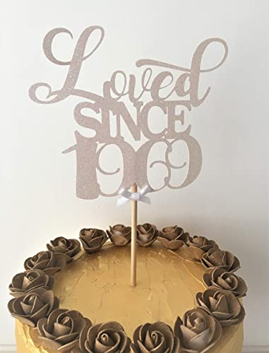 Tremendous Loved Since 1969 Cake Topper 50Th Birthday Cake Decoration Personalised Birthday Cards Sponlily Jamesorg