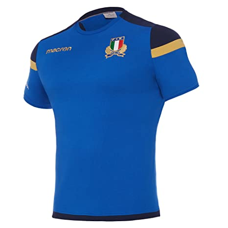 T Rugby Bluxx Staff Azzurro Italia LargeAmazon Shirt Macron it hCtdsrxQ