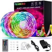Tenmiro 65.6ft Led Strip Lights, Flexible Color Changing LED Light Strips Kit with 44 Keys Ir Remote Led Lights for Bedroom, Kitchen, Home Decoration