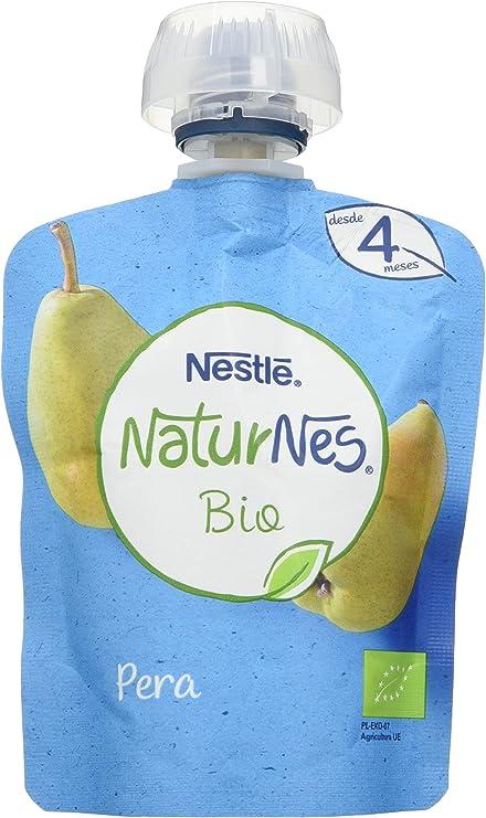 Nestlé Naturnes Bio Bolsita Puré Pera, A Partir De Los 4 Meses. Pack de 16 bolsitas 90g: Amazon.es: Alimentación y bebidas