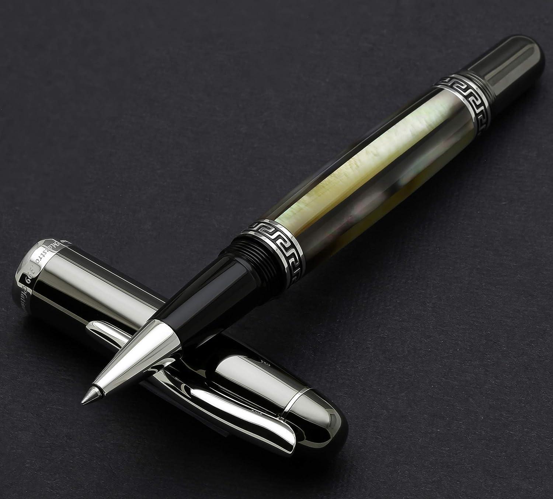 Maestro Negro fregona tungsteno RPL acabado met/álico Xezo hecho a mano en platino bol/ígrafo de punta redonda