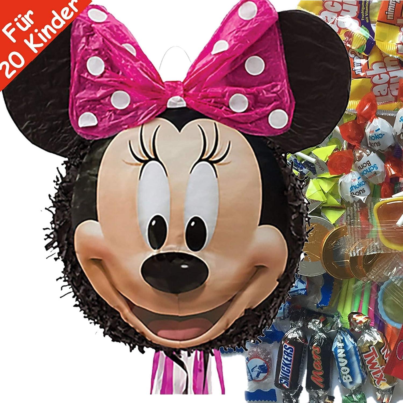 Juego de piñata con diseño de Minnie Mouse, con piñata ...