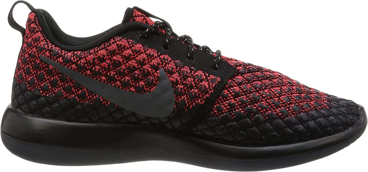 95d4f75d890a Nike Mens Roshe Two Flyknit 365 Bright Crimson Dark Grey Black Running Shoe  8. Back. Double-tap to zoom