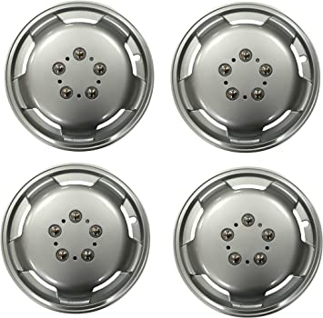 Leisurewize Peugeot Boxer 16 Universal Deep Dish Chrome Van Wheel Trims x4