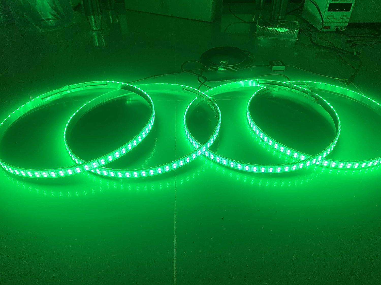 Sando Tech RGB Double Raw 17.5/'/' LED Wheel Ring Lights Rim Lights Tire Lights Bluetooth Controlled 4 Lights