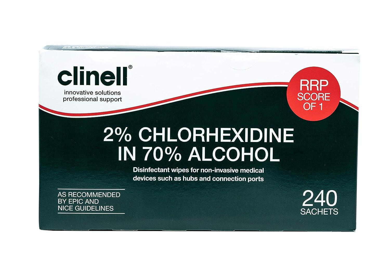 Clinell Toallitas ca2 C200, alcohólicas, 2% Clorhexidina: Amazon.es: Industria, empresas y ciencia