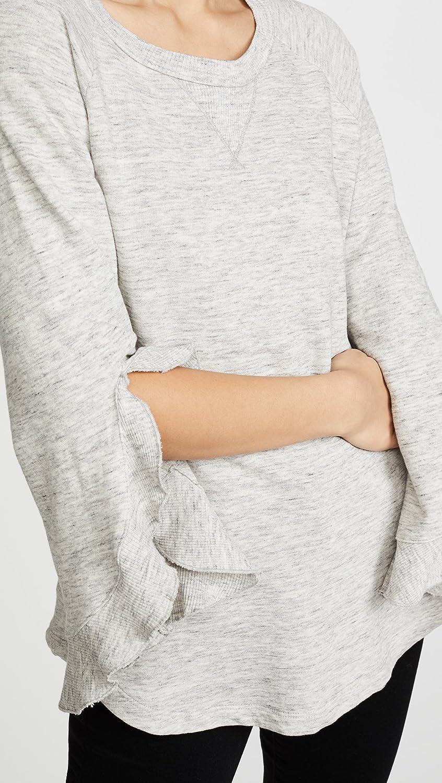 Ella Moss Womens Ruffle Sleeve Sweatshrt