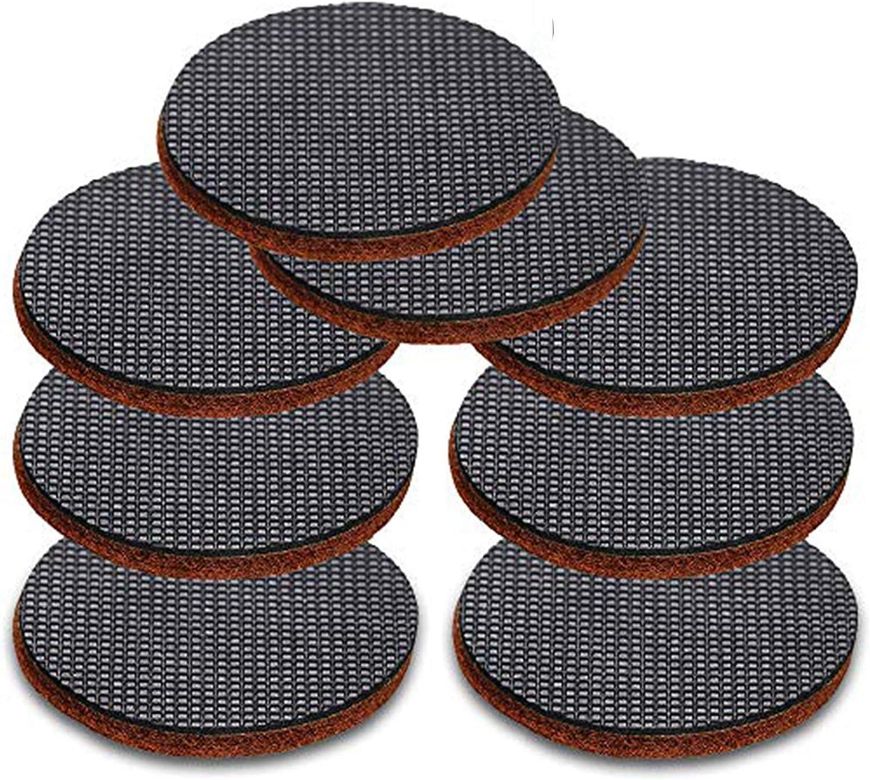 JJDD Black Anti Slip Furniture Pads 8 pcs 4