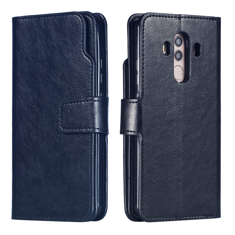 Handy hü lle Tasche Leder Flip Case Brieftasche Etui Schutzhü lle fü r Huawei Mate 20 20 Lite 20 Pro/Mate 10 Lite 10 Pro/P20 20 Lite 20 Pro/P8 Lite 2017/P9 P9 Lite/P10/ P smart hü lle, 5 Farben TGGT MS-9ka-Mate 20 Lite-Schwarz