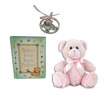 Baby Guardian Angel Crib Cross /& 1st Book of Prayers Christening Baptism Gift