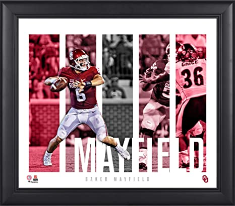 683858af0 Baker Mayfield Oklahoma Sooners Framed 15 quot  x 17 quot  Player Panel  Collage - College Player